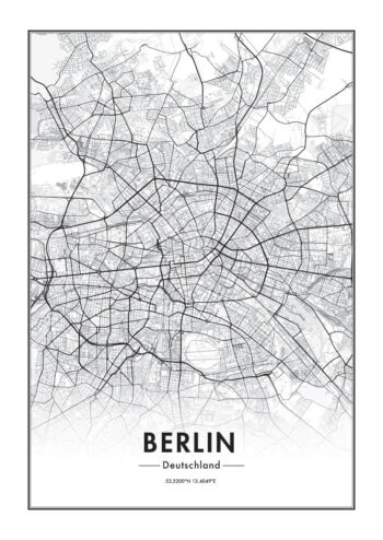 Poster Berlin Karte Poster 1