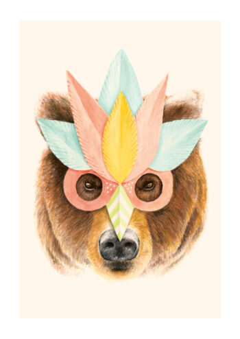 - Florent Bodart PosterBear Paper Mask - Florent Bodart Poster 1
