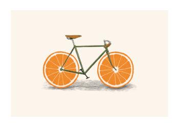 - Florent Bodart PosterOrange Bike - Florent Bodart Poster 1