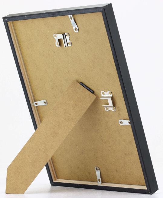 Schwarzer Rahmen 12mm lackierte Kiefer 3
