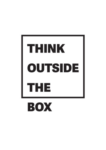Poster Think outside the box Poster 1