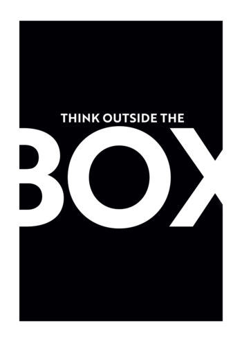 Poster Think outside the box 2 Poster 1