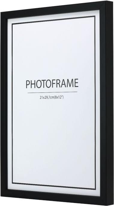 Schwarzer Rahmen 12mm lackierte Kiefer 2