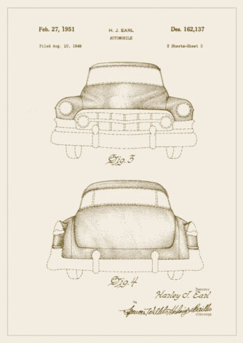 Poster Cadillac Patent Poster 1