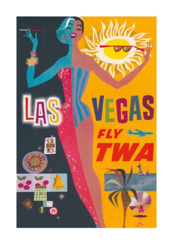Poster Las Vegas TWA Affisch Poster 1