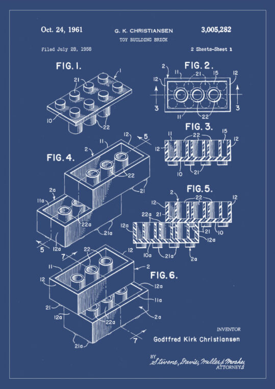 Poster Legostein Patent Poster 1