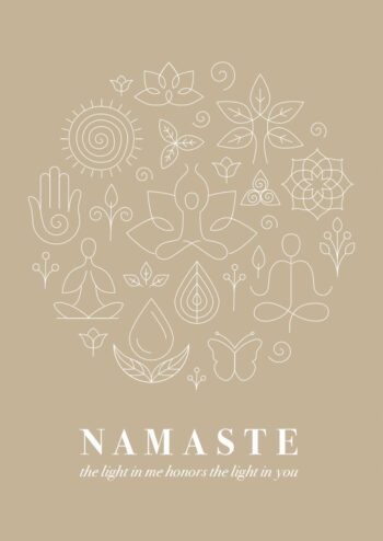 Poster Yoga Namaste Poster 1