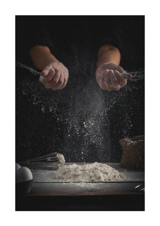 Poster Bäcker mehlige Hände Poster 1
