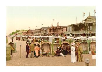 Poster Westerland Sylt strand 1890 Poster 1
