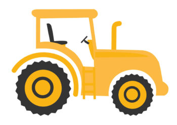 Poster Gelber Traktor Poster 1