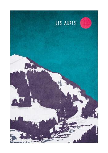 - Kubistika PosterLes Alpes - Kubistika Poster 1