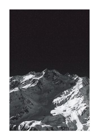 Poster Berg Schwarzweiss Poster 1