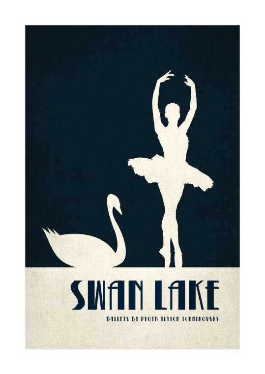 - Kubistika PosterSwan lake - Kubistika Poster 1
