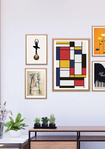 Poster Mondrian poster De Stijl Influence Poster 2