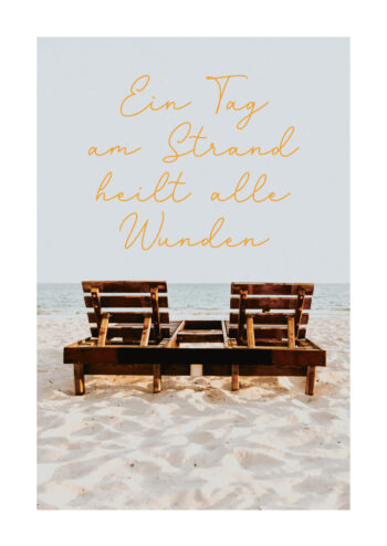 Poster Ein Tag am Strand Poster 1