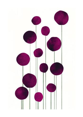 - Kubistika PosterViolet Flowers - Kubistika Poster 1
