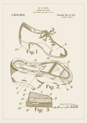 Poster Schuhsohle Patent Poster 1