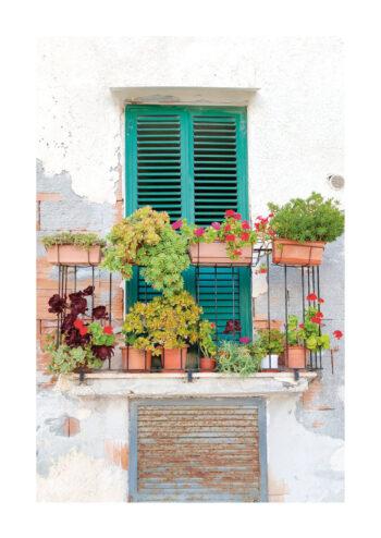 Poster Portugal grün Balkon Poster 1