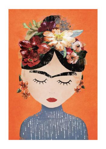 Poster Frida orange Poster 1